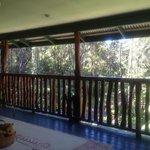 balcony view from bedroom door