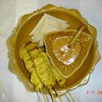 Thai chicken satay.