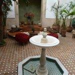 La fontaine et le bassin(couvert) du Patio