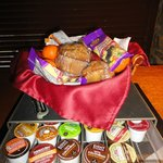 Snack basket and K-cups