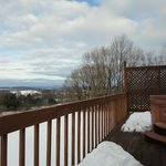 Private deck at the wilds