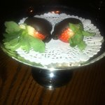 2 lovely chocolate covered strawberry