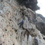 One of several climbs at Sleeping Wall