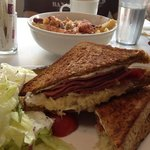 Rueben sandwich with salad on the side (ask for no thousand island dressing)