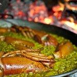 Paella bogavante