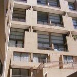 Vista dos apartamentos.