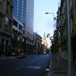 Rua Merced, onde ficam os apartamentos. Bem próximo do Andes.
