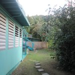 view of guest house we stayed in (side yard)