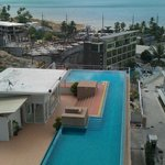 View from our balcony - the shared pool below