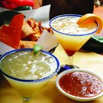 Our Limit-2 Margaritas and Signature Chips & Salsa, YUM!