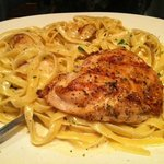 No Rules Paremsan Pasata with Grilled Chicken and Scallops