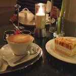 Coffee and cake at the hotel bar
