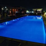 beautiful rooftop pool at night