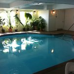 indoor (not heated) pool. Jacuzzi is heated, and to the right