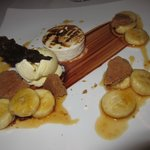 S'Mores Vanilla Marshmallow, Graham Cracker Ice Cream,  Brown Sugar, Bananas, Warm Fudge