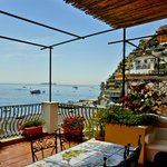 View from our balcony, Hotel Buca di Bacco, Positano, Italy