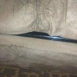 worn sofa