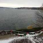 Wintery Lakeview from Dining Room (towards Lake Geneva downtown)
