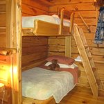 Bunk beds in the Polar Bear Cottage