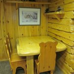 One of two dining areas in the Polar Bear Cottage.