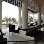 Outdoor dining area, with views of the ocean