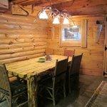 Main dining area of Polar Bear Cottage