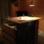Beautiful high-top desk (albeit not great for extended work)
