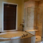 Whirlpool tub and shower. Dual Vanity.