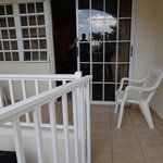 Patio between room and public deck