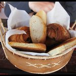 A basket of breads