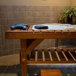 Wet room for water-body therapies