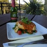 Mediterranean Chicken with a cider in the sun