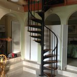staircase to upper level in 2br