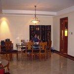 Dining room in a 3 bedroom apt.