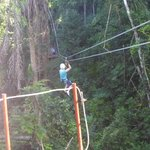 heather  enjoying the zipline again