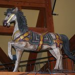 Carousel Horse in main room in house
