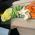 Club Lounge stale veggies