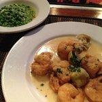 shrimps, artichoke and peas...