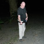 Phillip on the Night Tour with a Mousarani Snake