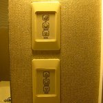 bathroom lighting controls, a little difficult to use, worn and unresponsive
