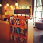 little free library at the Starbucks Omni Richmond