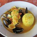 Chef Mitchell's signature dish Bouillabaisse