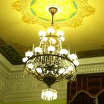 Antique Chandlier in Reception Room