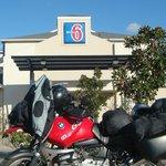 My bike in parking lot
