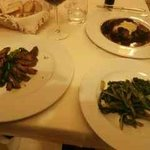 Venison and braised beef mains with sauteed greens
