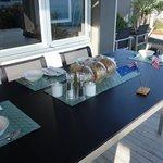 breakfast on patio deck