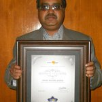 Platinum Award For Best Hotel In JaipurBudget Category-By Makemytrip.com to Manoj Gupta-Owner Ka
