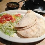 Two tacos a la carte...plenty for lighter appetites.