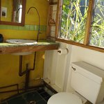 Our bathroom at Mount Edge Guest House in the Blue Mountains, Jamaica.