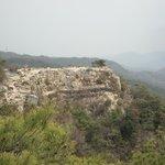 第五水門から見た絶壁の石垣